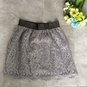 J Crew Gray Lace Skirt Size 0